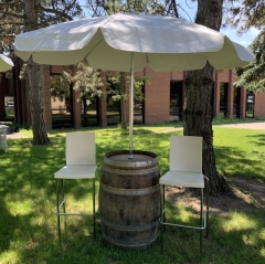 Rental store for Wine Barrel with Umbrella in Toronto Ontario