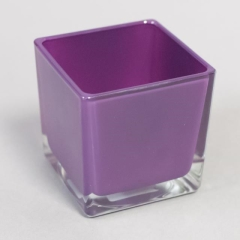 Rental store for Votive Sq. Glass Plum 3x3x3 in Toronto Ontario