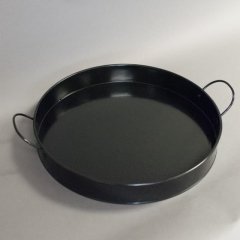Rental store for Tray Round  Black with handle 14 in Toronto Ontario