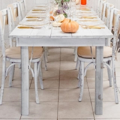 Rental store for Hillier Harvest Table 8 x3  - White Wash in Toronto Ontario
