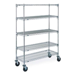 Rental store for 6  Metro Wire Chrome Shelf on Wheels with 4 18  shelves in Toronto Ontario