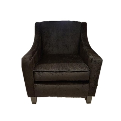 Rental store for Lounge Chair Distinct- Black Chenille in Toronto Ontario