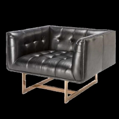 Rental store for Lounge Chair Matisse - Black Leather in Toronto Ontario