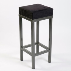 Rental store for Bar Stool - Black Velvet, Backless in Toronto Ontario