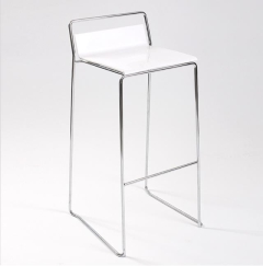 Rental store for Bar Stool - White, Low Back in Toronto Ontario
