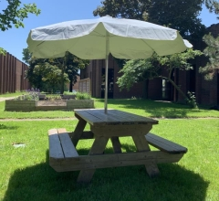 Rental store for Table Picnic Wood 6  with Umbrella in Toronto Ontario